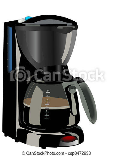 Realistic Illustration Of Coffee Maker Vector