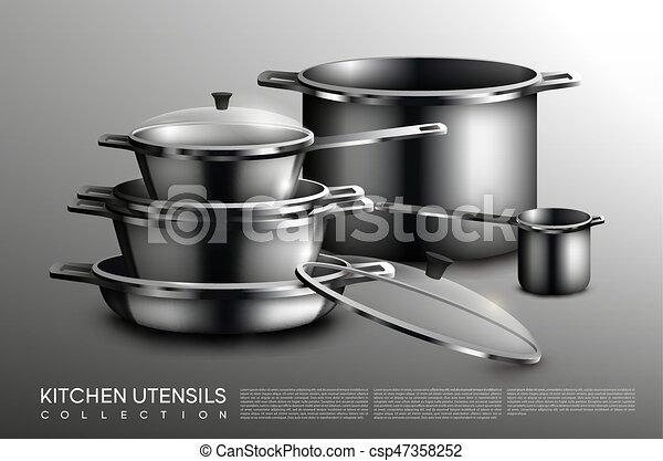 Realistic Kitchen Utensil Collection Realistic Kitchen Utensil