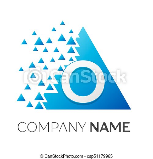 Realistic Letter O Vector Logo Symbol In The Colorful Clip Art