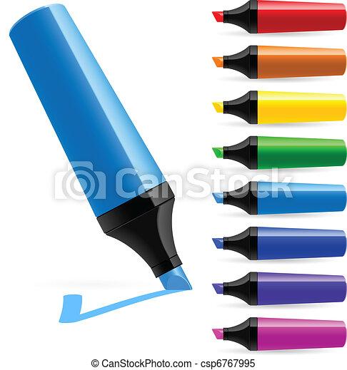 Realistic multi-colored markers - csp6767995