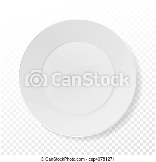 Realistic plate vector. closeup porcelain mock up tableware isolated ...