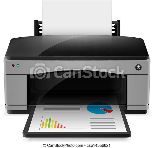 Realistic printer - csp14556821