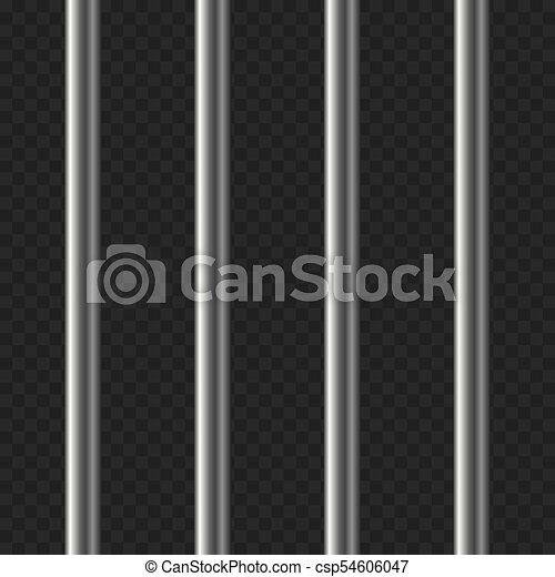 Realistic Prison Bars on Transparent Background. Vector - csp54606047