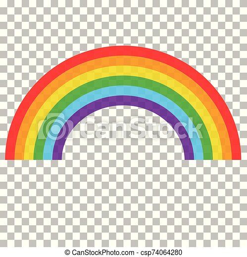 Realistic Rainbow On Transparent Background Abstract Realistic Colorful Rainbow