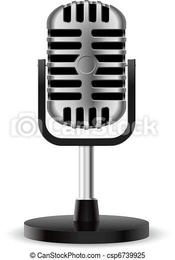 Realistic retro microphone - csp6739925