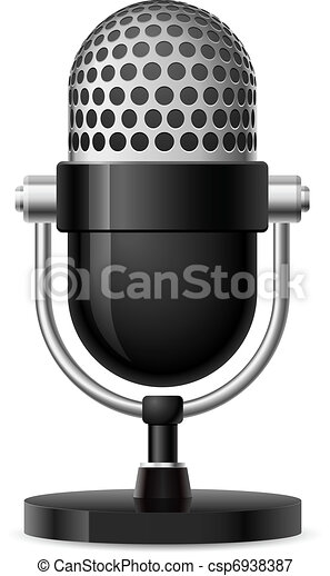 Realistic retro microphone - csp6938387