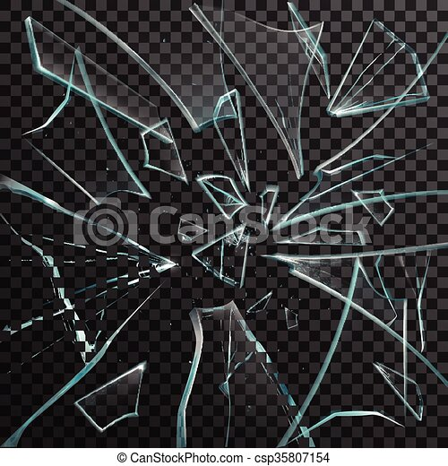 realistic shards of transparent broken glass realistic shards of