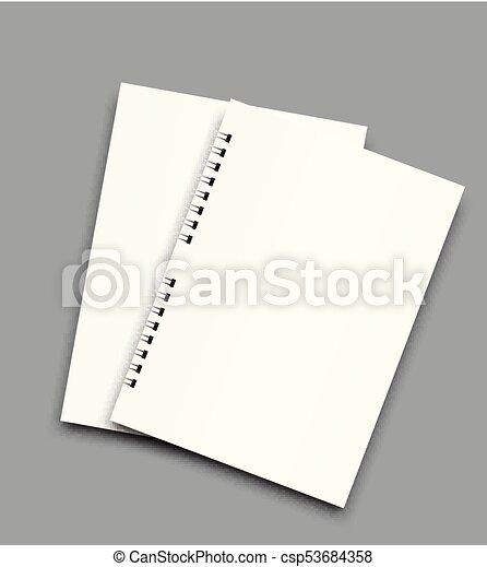 Spiral Notebook Paper Template