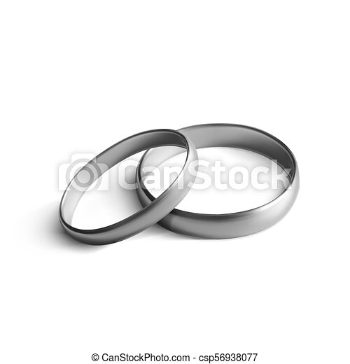 Realistic Silver Wedding Ring Isolated On Background Realistic