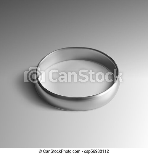 Realistic Silver Wedding Ring Isolated On Background Eps10 Vector