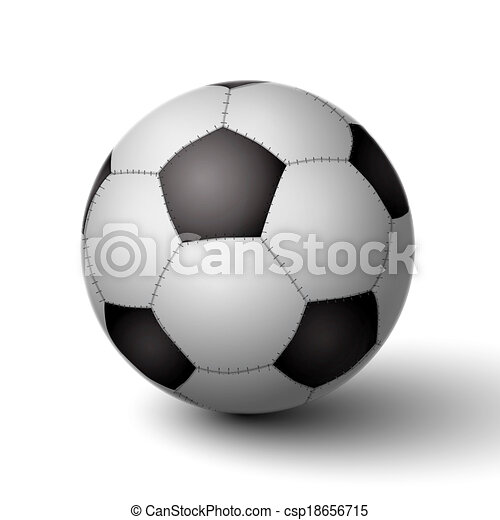 Realistic Soccer Ball For Football Icon Isolated Vector Illustration