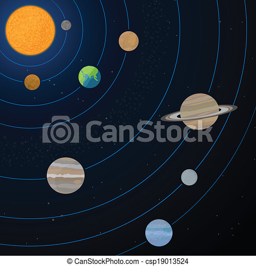 Realistic solar system illustration realistic illustration of solar realistic solar system illustration ccuart Choice Image
