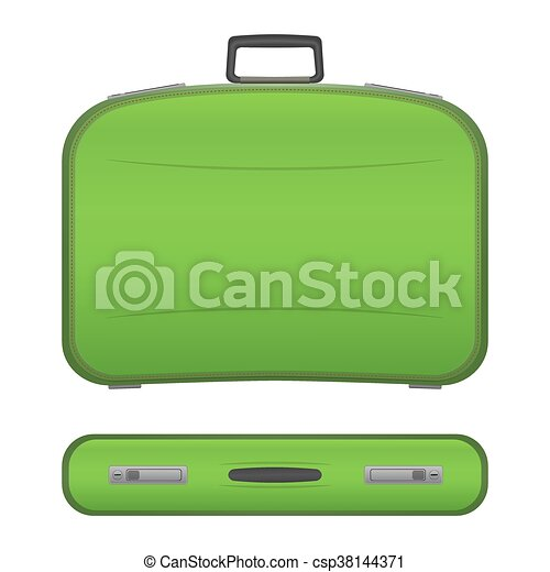 Realistic suitcase on white background - csp38144371
