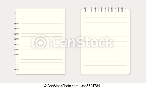 Realistic template notepad with spiral blank cover design school realistic template notepad with spiral blank cover design school business diary office stationery cheaphphosting Gallery
