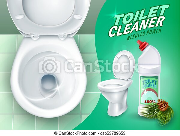 Cool Realistic Toilet And Cleaner Gel Poster Pdpeps Interior Chair Design Pdpepsorg