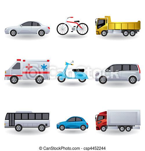 Realistic transportation icons set - csp4452244