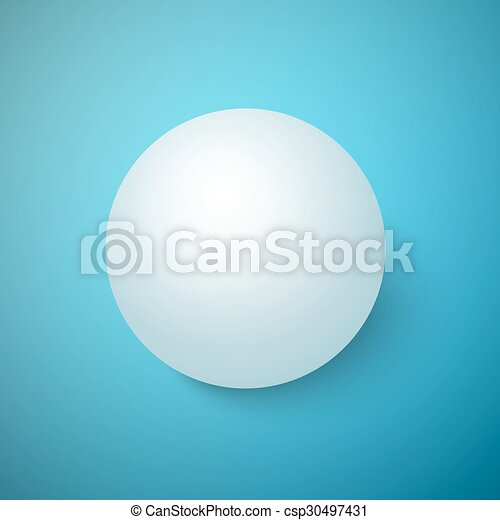 Realistic Vector 3D Ball Isolated on a Blue Background - csp30497431