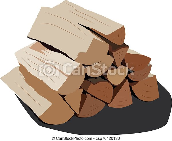 realistic vector illustration isolated firewood - csp76420130