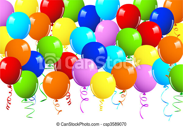 Realistic vector illustration of a shiny balloons - csp3589070