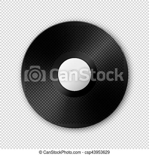 realistic vector music gramophone vinyl lp record icon design