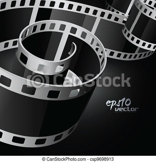 realistic vector reel film - csp9698913