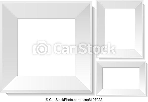 Realistic white photo frames - csp6197022