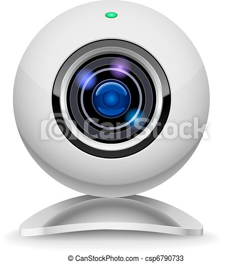 Realistic white webcam - csp6790733