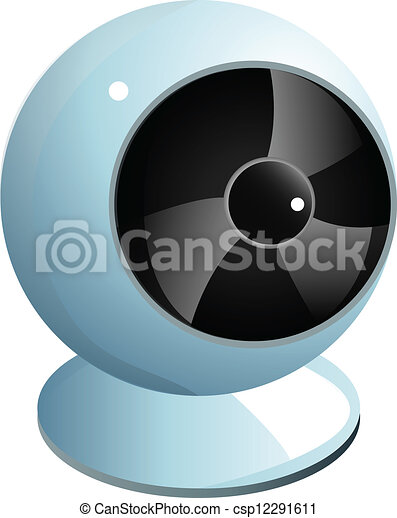 Realistic white webcam graphic - csp12291611