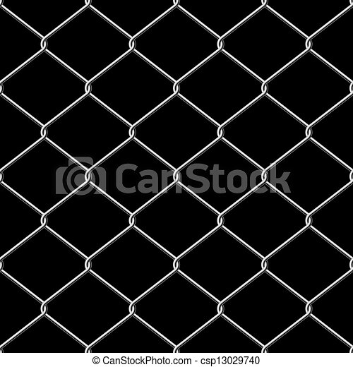 Realistic wire chainlink fence seamless texture. Realistic... eps ...