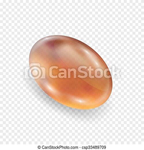 realistico, ambra, fondo, isolato, bianco - csp33489709