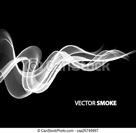 realistico, fumo nero, fondo, vettore - csp25749997