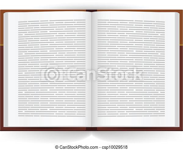 realistico, libro, aperto - csp10029518