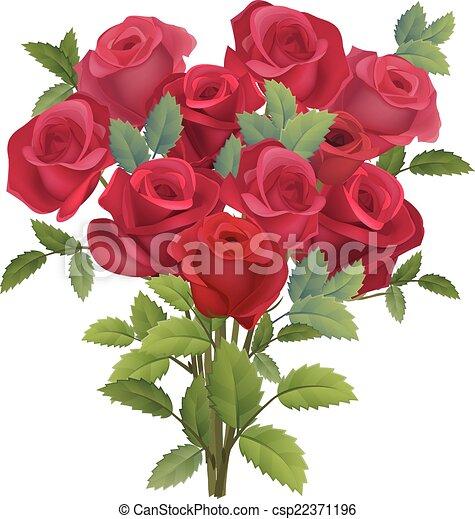 Realistico Mazzo Rose Rosse Rose Bianco Mazzo Rosso Realistico
