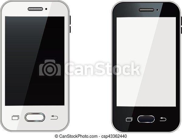 Realistico mobile schermo telefono vuoto smartphone for Mobile telefono