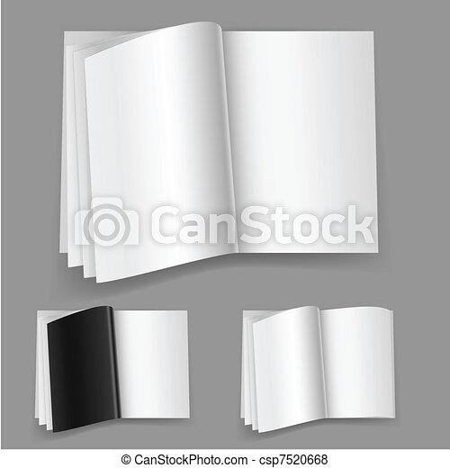 realistico, rivista, set, numero tre - csp7520668