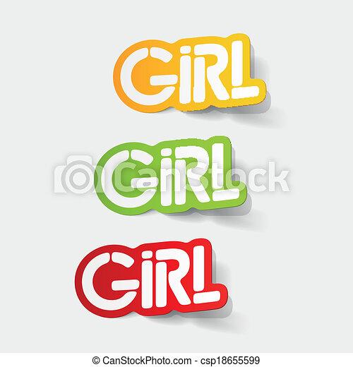 realistyczny, element:, projektować, dziewczyna - csp18655599