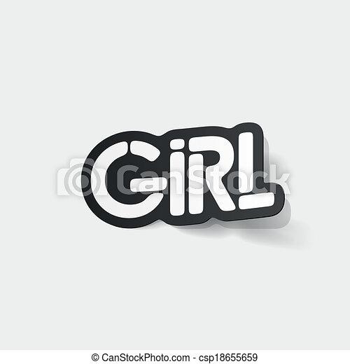 realistyczny, element:, projektować, dziewczyna - csp18655659