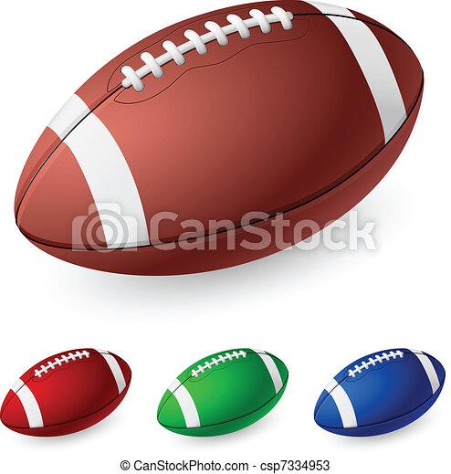 realistyczny, piłka nożna, amerykanka - csp7334953