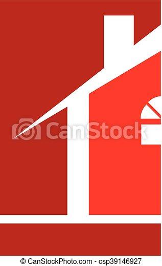 Realtor Red Logo House