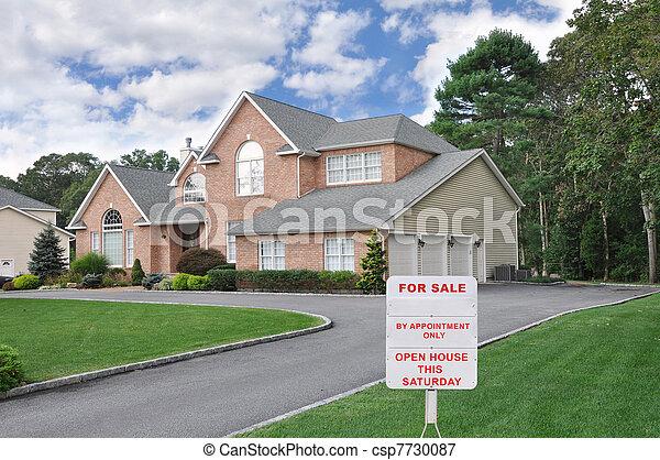 Realtor Sign Suburban Home - csp7730087
