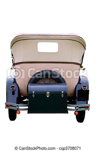 Rear of a vintage car - csp3708071