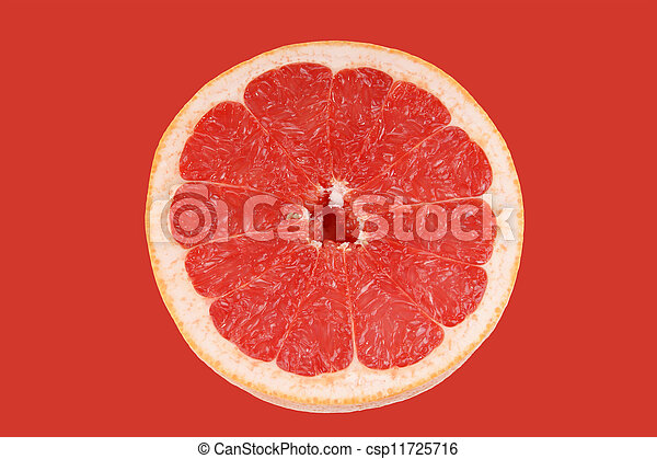 Fruta cortada en blanco - csp11725716