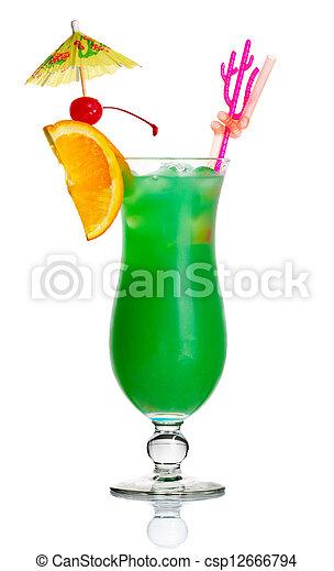 calidad asombrosa construcción racional precios de liquidación rebanada, paraguas, alcohol, cóctel, aislado, verde, naranja
