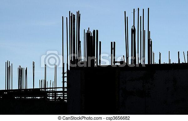 Rebar silhouette - csp3656682