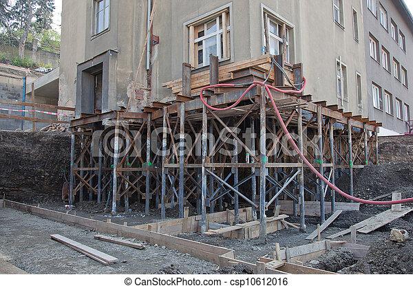 Rebuilding house foundation - csp10612016
