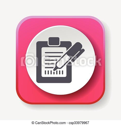 Receipt icon - csp33979967