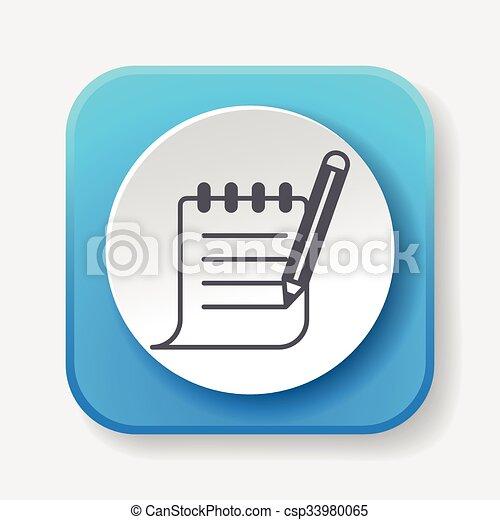 Receipt icon - csp33980065