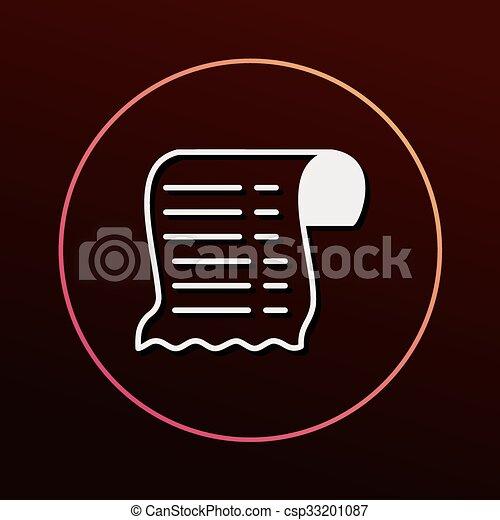 Receipt icon - csp33201087