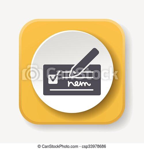 receipt icon - csp33978686