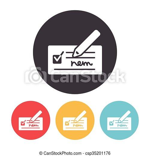 receipt icon - csp35201176